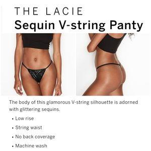Victoria secret sequin v string panty